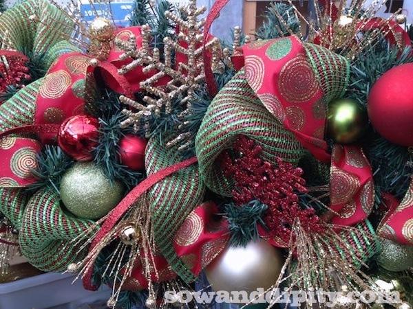 Decorating a garland