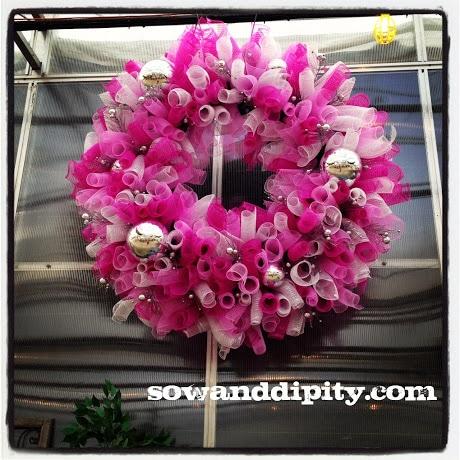 Breast Cancer Fundraiser Wreath