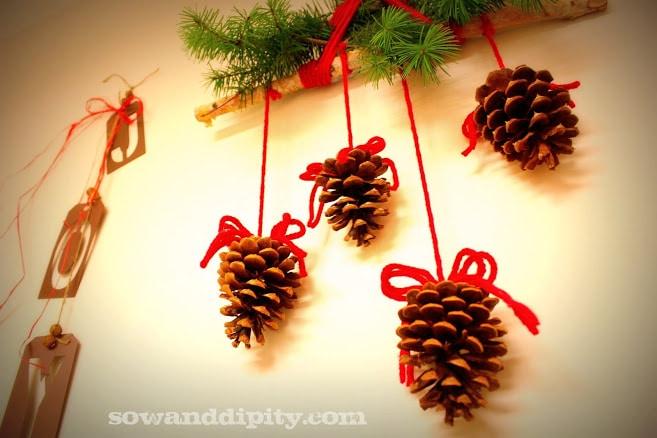 Plaid and Pine Cones -