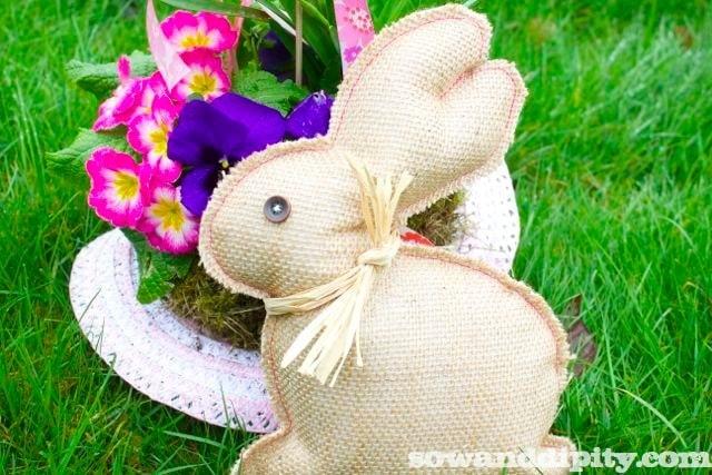 Last Minute Burlap Bunny Project