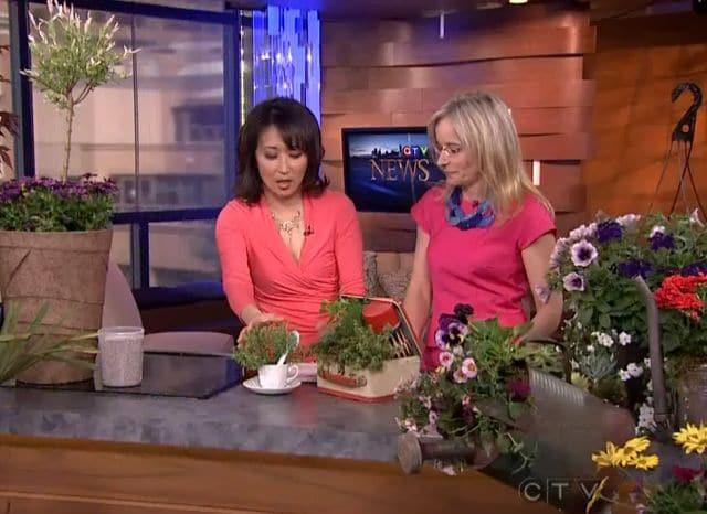 Tamara Jansen on CTV discussing Garden Trends
