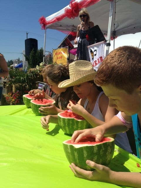 watermelon eating competition
