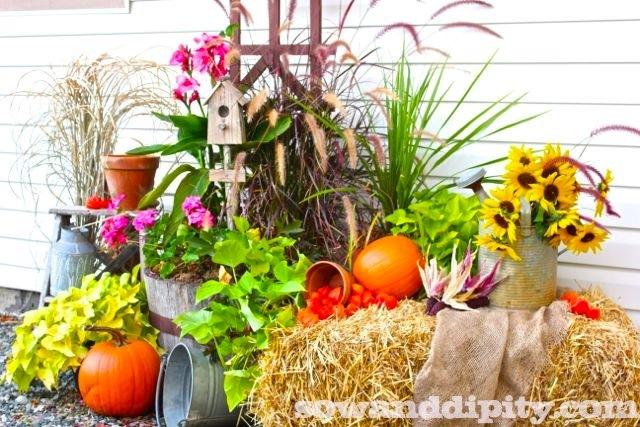14 Gorgeous Fall Planters
