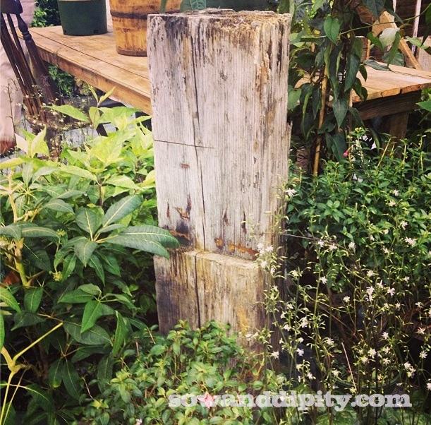 Barn wood garden art