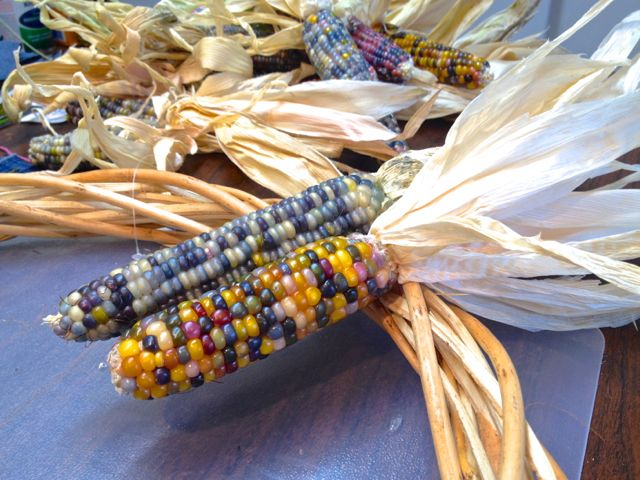 corn on willow wreath form