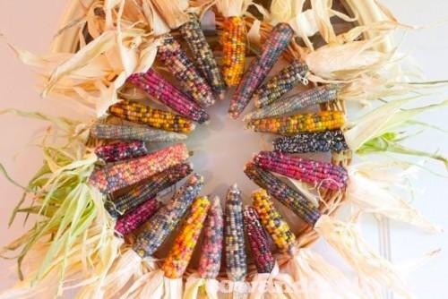 fall corn wreath