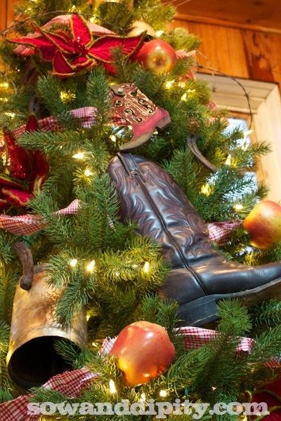 Cowboy Boot Christmas Tree