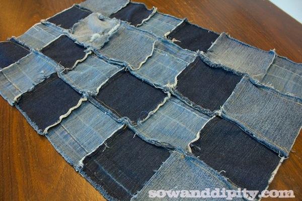 blue jean rag rug