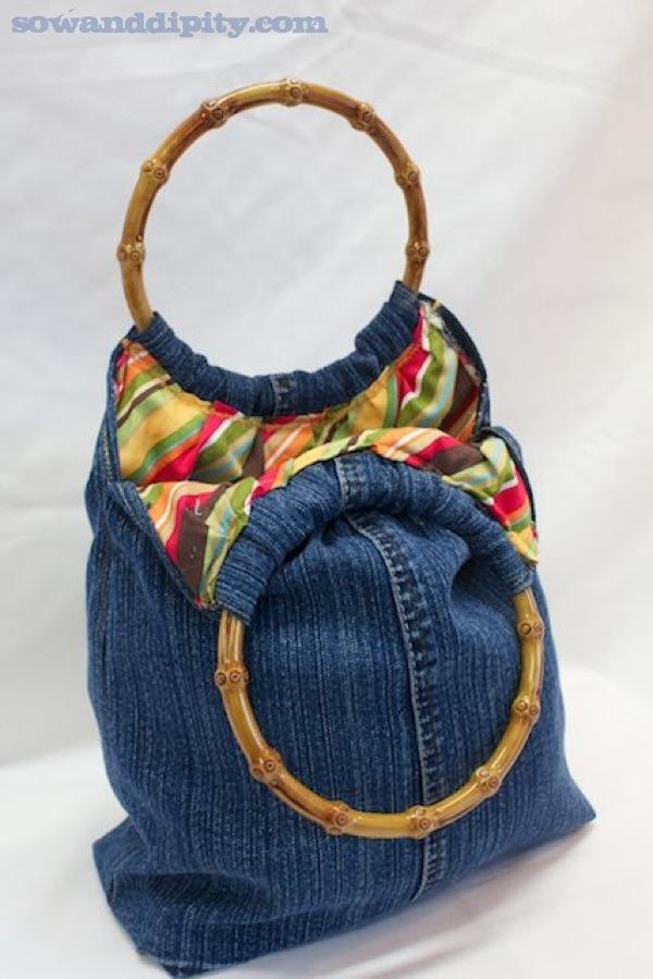 DIY denim purse