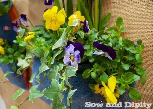 Recycled Denim Plant Pocket (3)