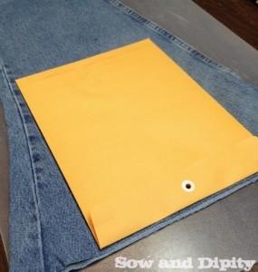 Using a manila envelope as a pattern piece