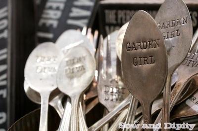 garden hammered spoons
