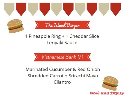 burger toppings