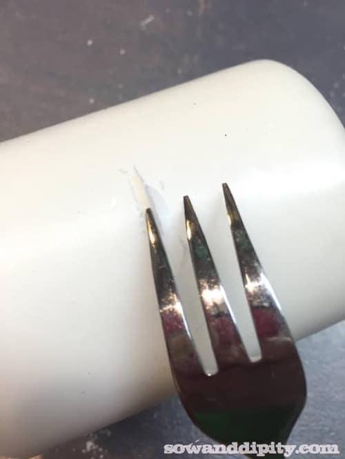 DIY Birch Candles