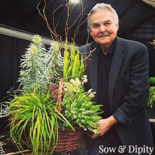 Brian Minter with designer planter