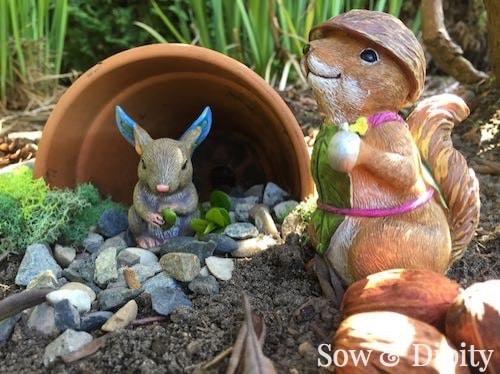 Create adorable Fairy Gardens IN the Garden with these tips. WIN a $500 sweepstakes towards Enchanted Guardians! #D56enchantedguardians #Ad