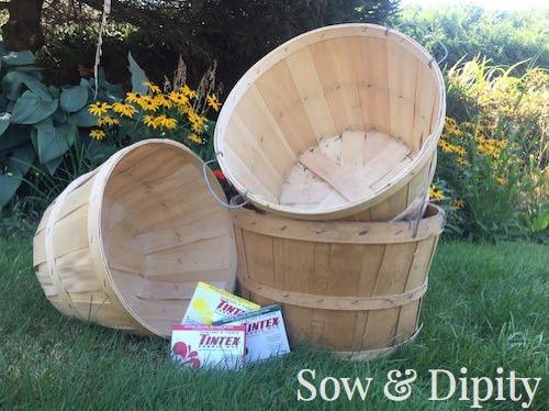 DIY dyed bushel baskets (5)