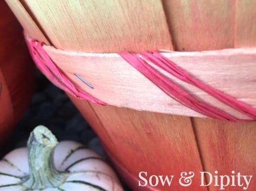 Dyed Bushel Baskets (3)