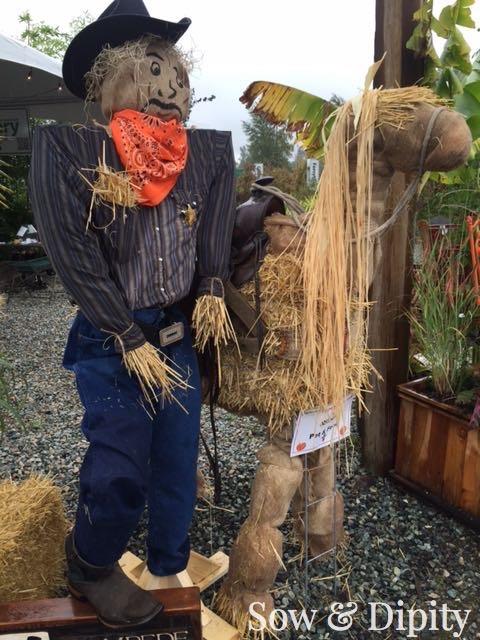 Cowboy and Horse Scarecrow