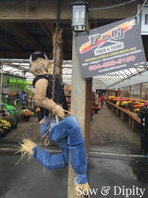 Crane operator scarecrow