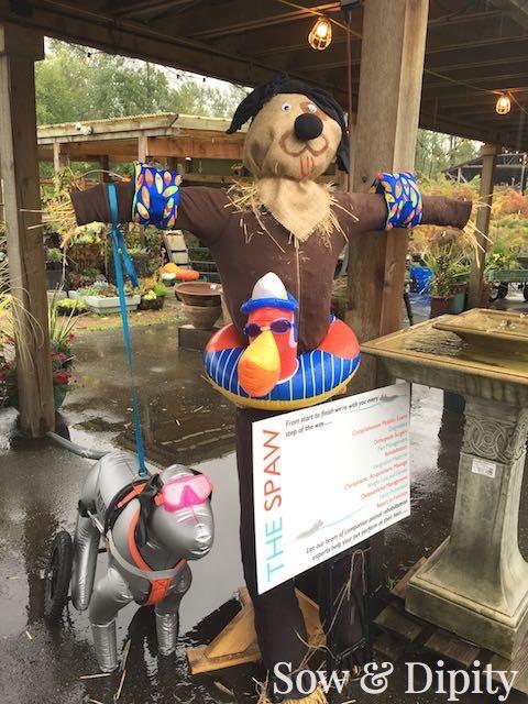 Dog scarecrow