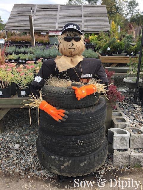 Tire Scarecrow
