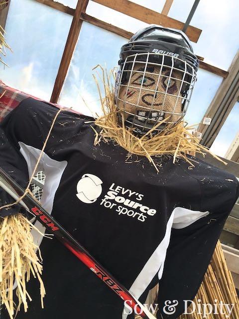 hockey Scarecrow