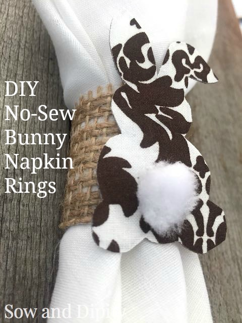 DIY No-Sew Bunny Napkin Rings