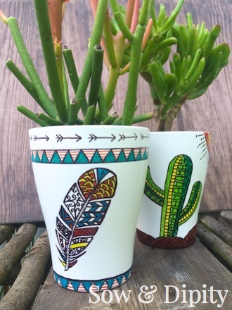 Sharpie art succulent planter (4)