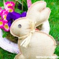 Last Minute Burlap Bunny Project